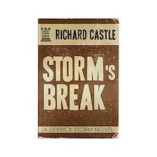 Retro Castle Storm's Break Rectangle Magnet