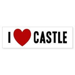 I Love Castle Bumper Sticker