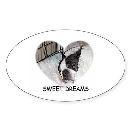 SWEET DREAMS Oval Sticker