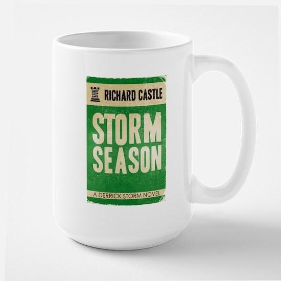 Retro Castle Storm Season Large Mug