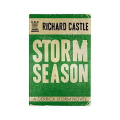 Retro Castle Storm Season Rectangle Magnet