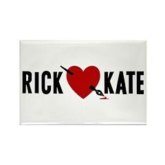 Castle Rick Heart Kate Rectangle Magnet