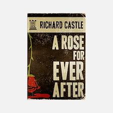 Retro Castle Rose For Everafter Rectangle Magnet