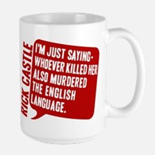 Castle Murdered The English Language Large Mug