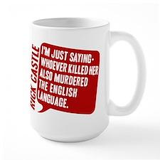 Castle Murdered The English Language Large Mug