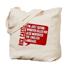 Castle Murdered The English Language Tote Bag