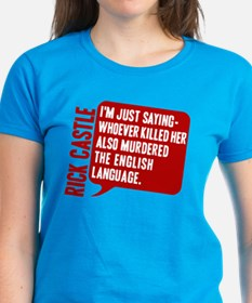 Castle Murdered The English Language Tee