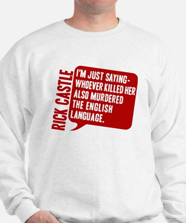 Castle Murdered The English Language Sweater