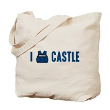 I Love/Vest Castle Tote Bag