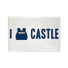 I Love/Vest Castle Rectangle Magnet