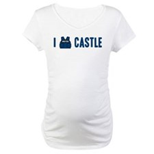 I Love/Vest Castle Maternity T-Shirt