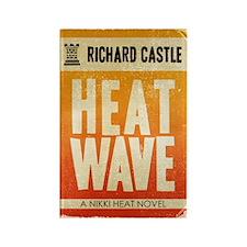 Castle Heat Wave Retro Rectangle Magnet