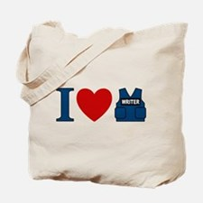 Castle I Heart Writer Vest Tote Bag