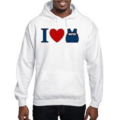 Castle I Heart Writer Vest Hoodie