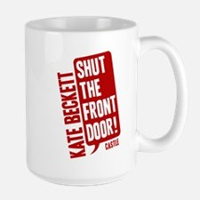 Castle Shut The Front Door Large Mug