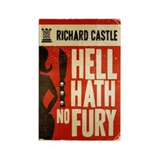 Castle Hell Hath No Fury Rectangle Magnet