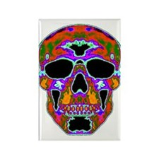 Psychedelic Skull Rectangle Magnet