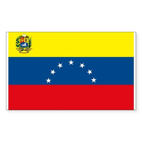 Venezuela Flag Rectangle Sticker