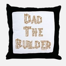 Dad The Builder Throw Pillow
