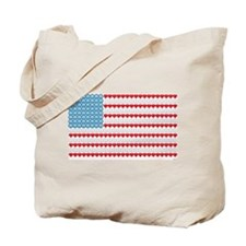 PeaceCrew Logo Flag Tote Bag