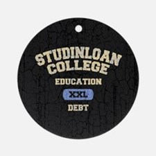 College Education Debt Ornament (Round)