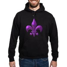 NOLA Purple Metallic Fleur Hoodie