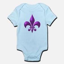 NOLA Purple Metallic Fleur Infant Bodysuit