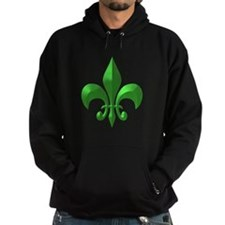 NOLA Green Metallic Fleur Hoody