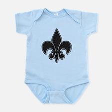Saints Black Grey Fleur Infant Bodysuit