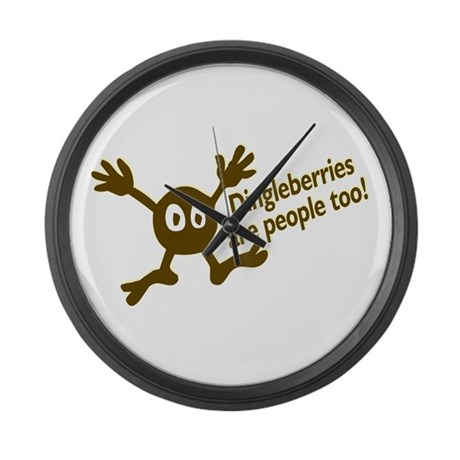 Dingleberries are people too Large Wall Clock