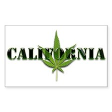 California Marijuana leaf Decal