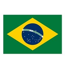 Brazil Flag Postcards (Package of 8)