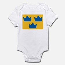 Sweden Hockey Logo Infant Bodysuit