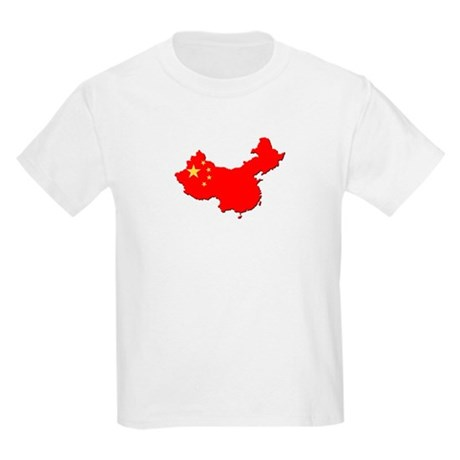 China Flag Map Kids Light T-Shirt