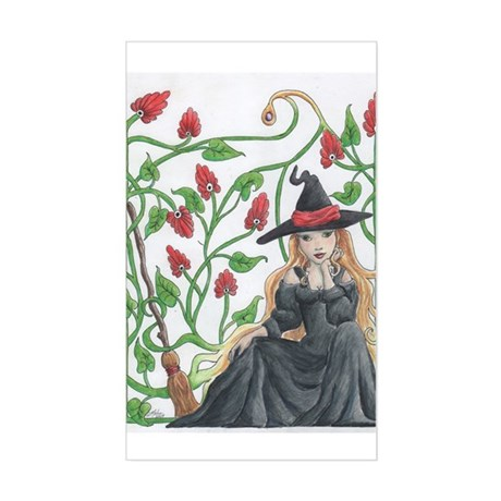 Witch's Broomstick Sticker (Rectangle)