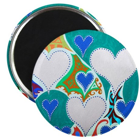 Raining Hearts Jade Magnet