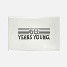60 Years Young Rectangle Magnet
