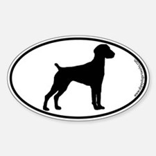 German Shorthair SILHOUETTE Oval Decal