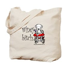 Winey Dalmatian Tote Bag