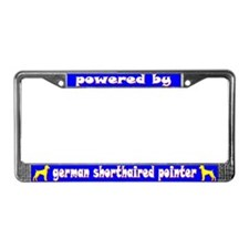 Powered by Ger. Shorthair Pointer Lic. Plate Frame