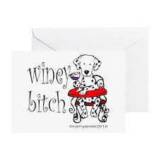 Winey Dalmatian Greeting Card