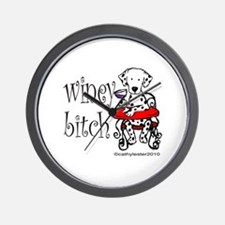 Winey Dalmatian Wall Clock