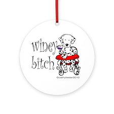 Winey Dalmatian Ornament (Round)
