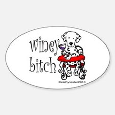 Winey Dalmatian Sticker (Oval)
