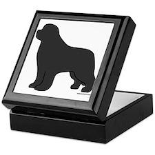 Gray Newfoundland Silhouette Keepsake Box
