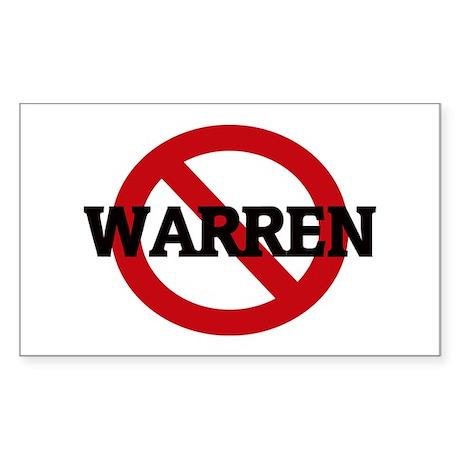 Anti-Warren Rectangle Sticker