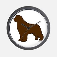 Brown Newfoundland Silhouette Wall Clock