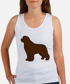 Brown Newfoundland Silhouette Women's Tank Top