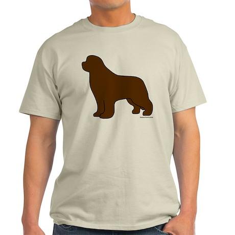 Brown Newfoundland Silhouette Light T-Shirt