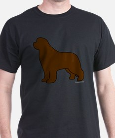Brown Newfoundland Silhouette T-Shirt